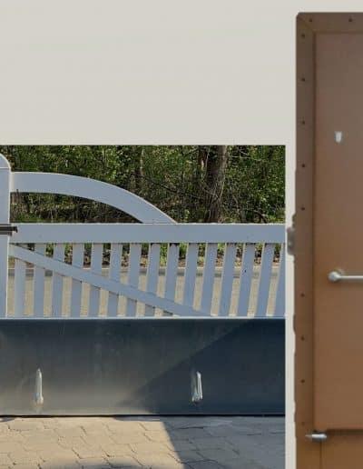 Hochwasserschutztor Banner
