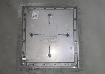 Hochwasserschutzluke aus Stahl