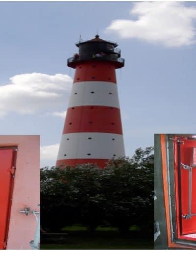 Hochwasserschutztür Leuchtturm